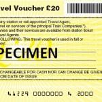 National Rail travel voucher